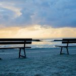 Benches and sea