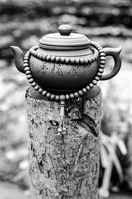 Pot with rosary